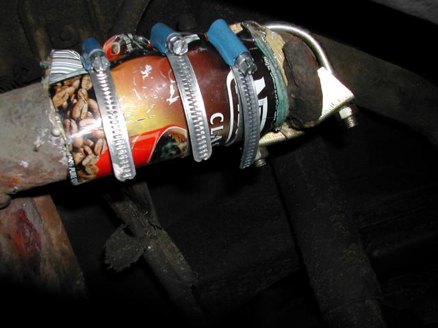 Ремонт трубы глушителя без сварки своими руками 1